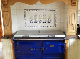 Beautiful Blue Everhot 120i all Electric Range Cooker