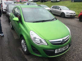 Vauxhall Corsa, 2012 (62) Green Hatchback, Manual Petrol, 72,200 miles