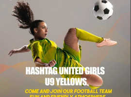 Hashtag Utd U9 Girl 'Yellows' are looking for new players