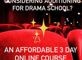 A 3 DAY ONLINE half term COURSE for anyone considering a career in the performing arts