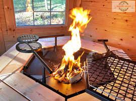 4,5m Grillkota  BBQ Hut Grill House Log Cabin
