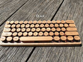Chery Wooden Typewriter Keycaps NO LETTERS (Cherry MX switch compatible) Vintage style