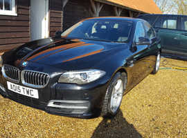 BMW 5 Series, 2015 (15) Black Saloon, Automatic Diesel,