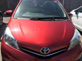 Toyota Yaris, 2012 (61) Red Hatchback, Manual Petrol, 54,541 miles