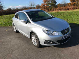 Seat Ibiza, 2011 (61) Silver Hatchback, Manual Diesel, 70,000 miles Zero annual tax