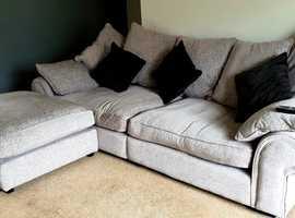 Light Grey Large sofa and large stool
