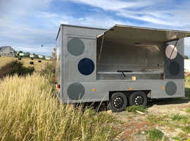 14ft modern grey catering trailer