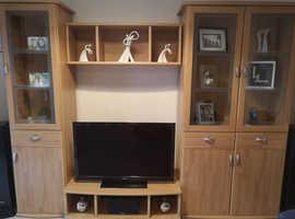 Living Room Wall Unit in Beech