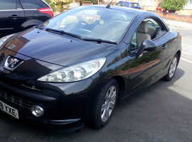 Peugeot 207, 2008 (58) Black Convertible, Manual Diesel, 129,000 miles