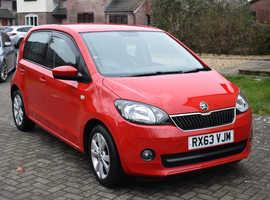 Skoda Citigo, Elegance, GreenTech, 2013 (63) Red Hatchback, Manual Petrol, 50,500 miles