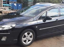 Peugeot 407, 2010 (10) Black Estate, Manual Diesel, 187,000 miles