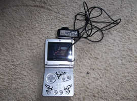NINTENDO GAME BOY ADVANCE SP Silver, GENUINE GAMEBOY CHARGER Plus STUNTMAN GAME