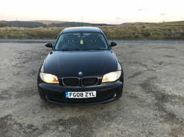BMW 1 series, 2008 (08) Black Hatchback, Manual Petrol, 120,000 miles