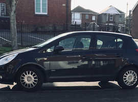 Vauxhall Corsa, 2008 (08) Black Hatchback, Manual Petrol, 94,300 miles