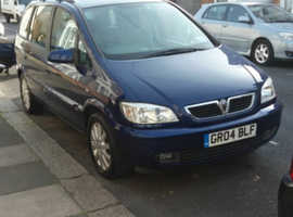 Vauxhall Zafira, 2004 (04) Blue MPV, Manual Petrol, 111,032 miles