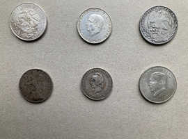 MEXICAN AND SOUTH AMERICAN  SILVER COINS