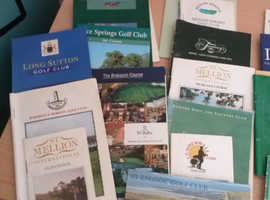 COLLECTION OF GOLF COURSE PLANNERS
