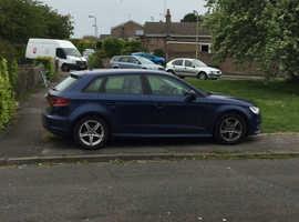 Audi A3, 2015 (65) Blue Hatchback, Manual Diesel, 68,500 miles