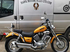 STRIKING 1996 YAMAHA XV535 VIRAGO, ONLY 7485 MILES, 3 OWNERS, SCREEN.