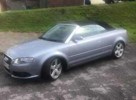 Audi A4, 2007 (07) grey Convertible, Automatic Petrol, 124000 miles