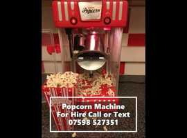 Childrens party popcorn maker machine entertainment Southampton Hollywood event