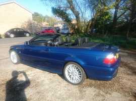 BMW 330 Ci Sport Convertible - 2002 - Topaz Blue - FSH - Harman Kardon - Heated Seats - Sat Nav