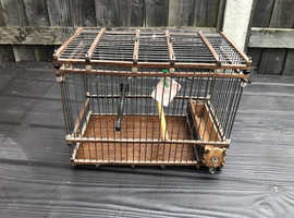 Gold Finch/mule Turkish handmade wooden cage for £20