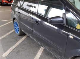 Vauxhall Zafira, 2008 (58) Black MPV, Automatic Diesel, 124,000 miles