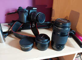 Canon 500D with 4 Lenses
