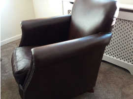 Comfortable Brown leather chair