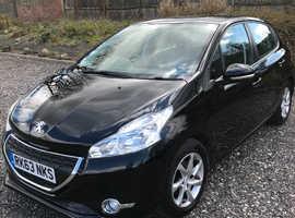 Peugeot 208, 2013 (63) Black Hatchback, Manual Petrol, 55,000 miles