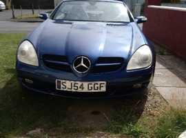 Mercedes Slk, 2004 (54) Blue Convertible, Automatic Petrol, 121,000 miles