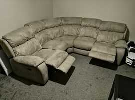 5 Seater Sofa with 2 reclining seats from Furniture Village.