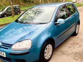 Volkswagen Golf, 2006 (06) Blue Hatchback, Manual Petrol, 105,116 miles, cheap tax & Insurance Great MPG