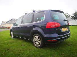 Volkswagen Sharan, 2012 (12) Blue MPV, Semi auto Diesel, 112,000 miles
