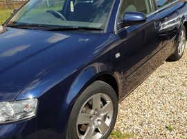 Audi A4, 2003 (53) Blue Saloon, Cvt Petrol, 72,800 miles