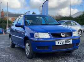 Volkswagen Polo, 2001 (Y) Blue Hatchback, Manual Petrol, 91,000 miles