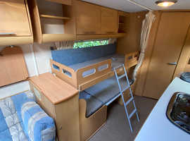 Bailey Pageant Champagne Series 6 4 berth 2007 Caravan with Motor Movers and Awning