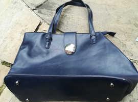 Black Leather Galtzine Ladies Handbag