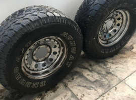 TOYOTA HILUX ENDURO 4X4 TYRES WITH RIMS
