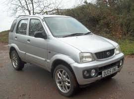 Daihatsu Terios, 2005 (05) Silver Hatchback, Manual Petrol, 87,000 miles
