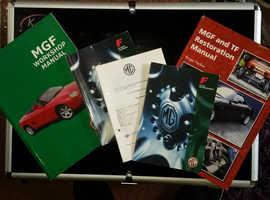 MGF workshop/restoration manual & three handbooks