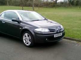 Renault Megane, 2009 (59) Grey Convertible, Manual Diesel, 35,000 miles