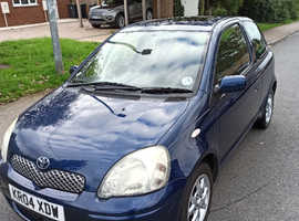 Toyota Yaris, 2004 (04) Blue Hatchback, Manual Petrol, 95,642 miles