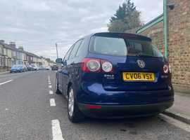 Volkswagen Golf Plus, 2006 (06) Blue Hatchback, Manual Diesel, 134,072 miles