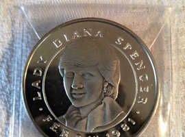 24th of Feb 1981, Diana Spencer / Charles Prince of Wales, Betrothal Coin/Medal