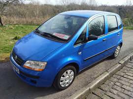 Fiat Idea, 2004 (54) Blue Hatchback, Manual Petrol, 112,000 miles