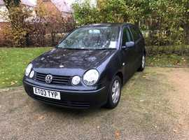 Volkswagen Polo, 2003 (03) Black Hatchback, Manual Petrol, 104,000 miles