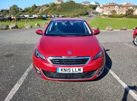 Peugeot 308, 2015 (15) Red Estate, Manual Diesel, 49,497 miles