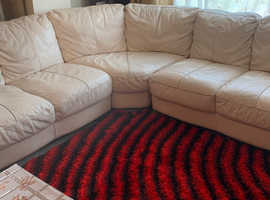 Dfs corner Italian leather sofa
